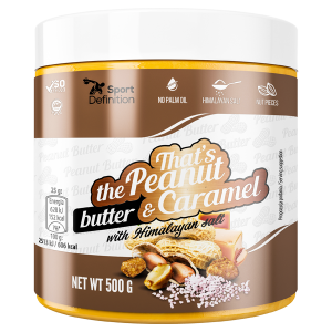 SPORT DEFINITION PEANUT & CARAMEL BUTTER 500G