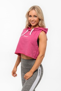 DEADLIFT BLUZA CROP FUKSJA