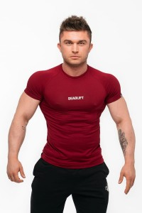 "DEADLIFT T-SHIRT MĘSKI ""RAGLAN"" BORDO"