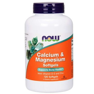 NOW FOODS CALCIUM & MAGNESIUM D3 ZINC 120 KAPS