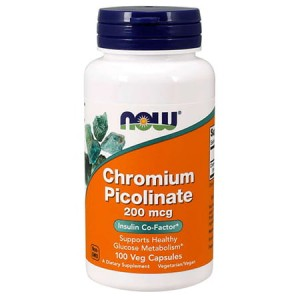 NOW FOODS CHROMIUM PICOLINATE 200MCG 100 KAPS.