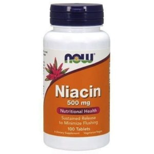 NOW FOODS NIACIN 500mg 100 TABS.