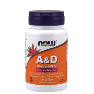 NOW FOODS VITAMIN A&D 10000/400IU 100 SOFTGELS