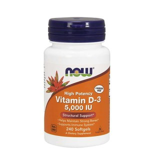 NOW FOODS VITAMIN D-3 5000IU 240 SOFTGELS