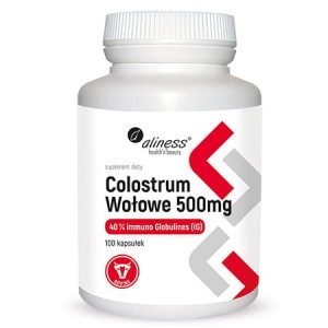 ALINESS COLOSTRUM WOŁOWE 500 MG 100 KAPS