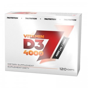 7NUTRITION VITAMIN D3 4000 IU 120 KAPS.
