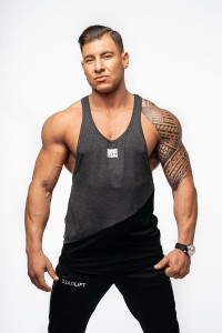 "DEADLIFT TANK TOP MĘSKI ""SLANT"" GRAFIT"