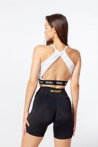 "DEADLIFT CROP TOP ""ORIGIN DELTA"" BIAŁY"