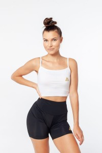 "DEADLIFT CROP TOP ""ORIGIN"" BIAŁY"