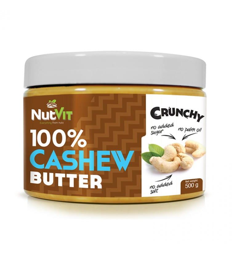 NUTVIT CASHEW BUTTER CRUNCHY 500G