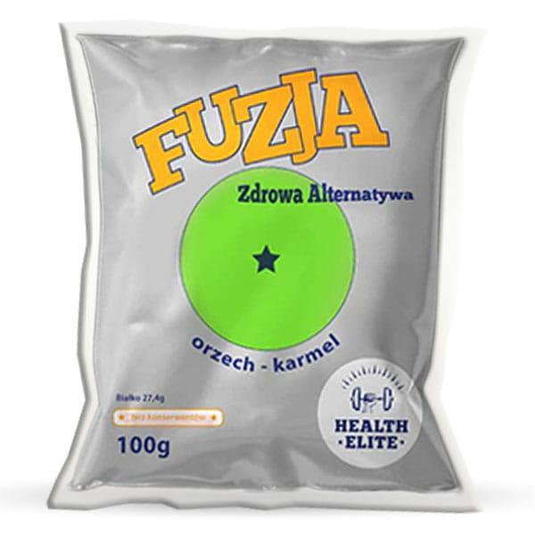 HEALTH ELITE BATON FUZJA ORZECH-KARMEL 100G