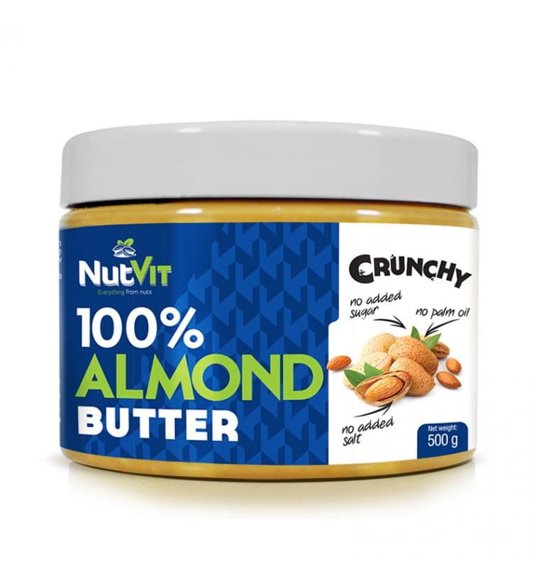 NUTVIT ALMOND BUTTER CRUNCHY 500G