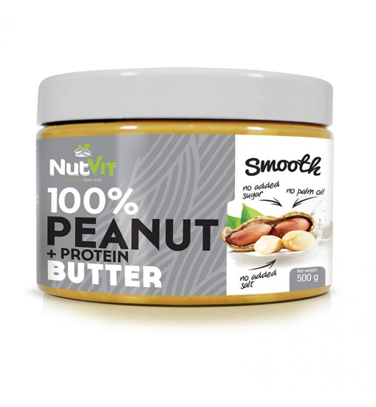 NUTVIT PEANUT BUTTER + PROTEIN 500G