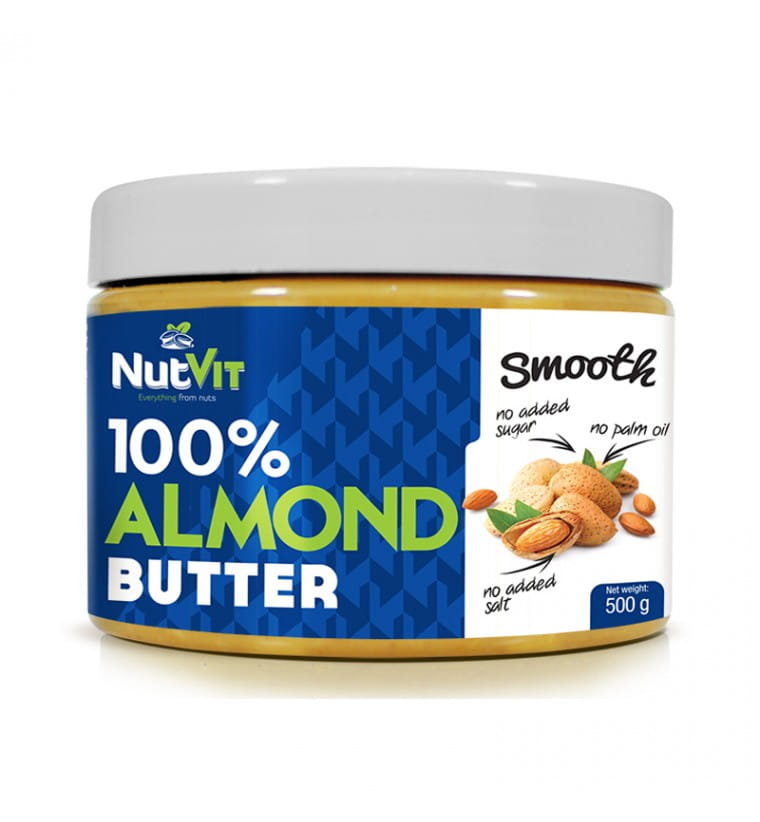 NUTVIT ALMOND BUTTER SMOOTH 500G
